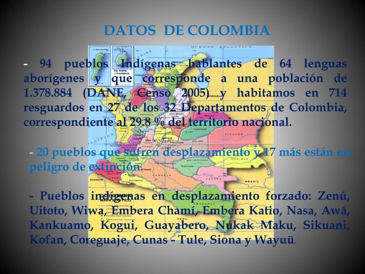 DATOS  DE COLOMBIA