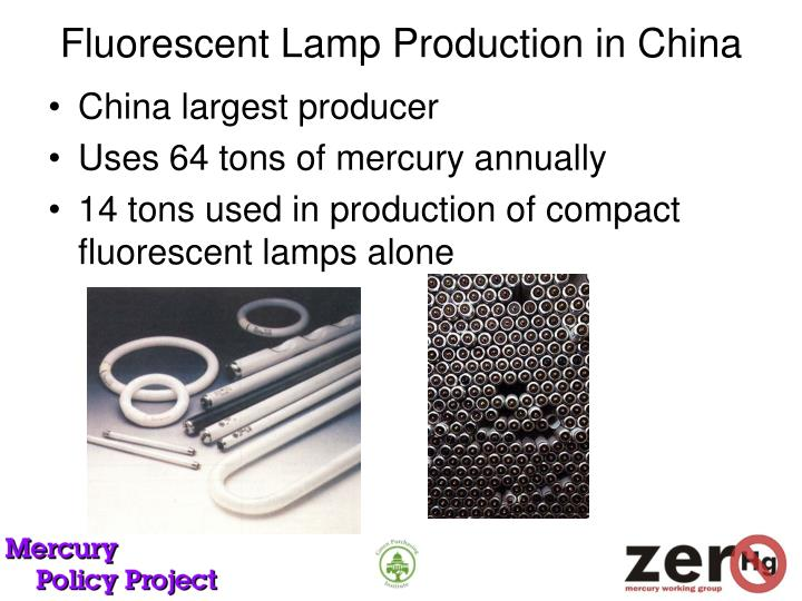 Fluorescent Lamp Production in China