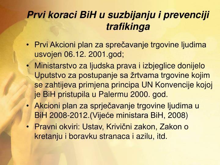 Prvi koraci BiH u suzbijanju i prevenciji trafikinga