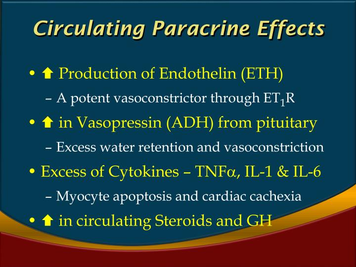 Circulating Paracrine Effects