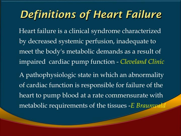 Definitions of Heart Failure