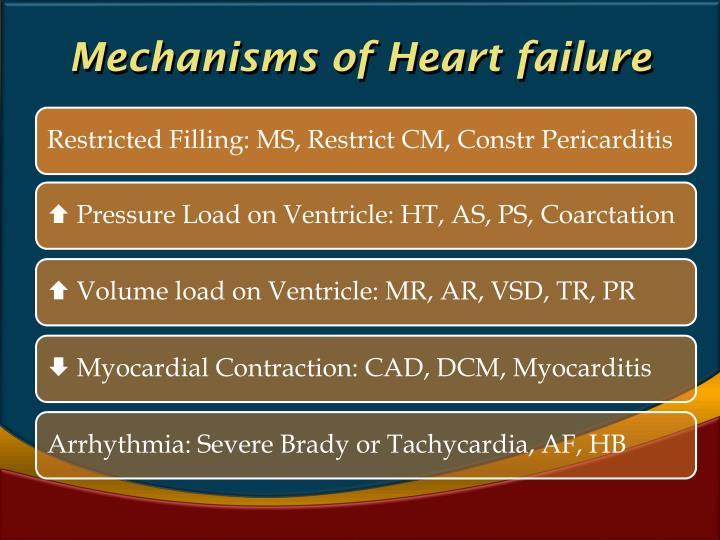 Mechanisms of Heart failure