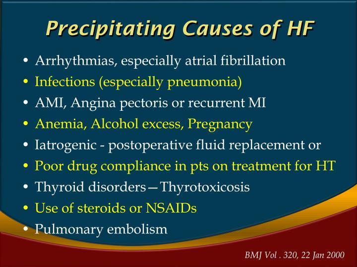 Precipitating Causes of HF