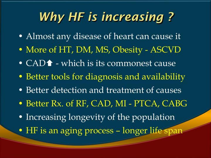 Why HF is increasing ?