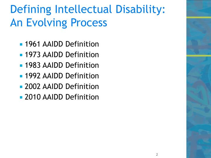 Defining intellectual disability an evolving process