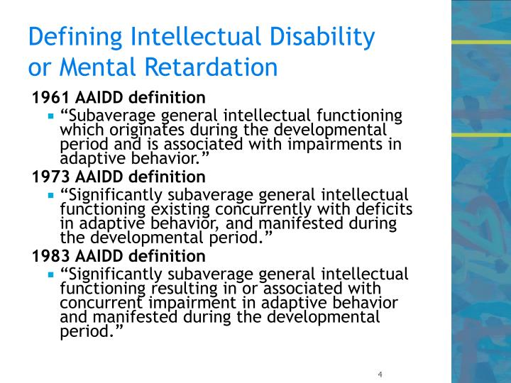 Defining Intellectual Disability