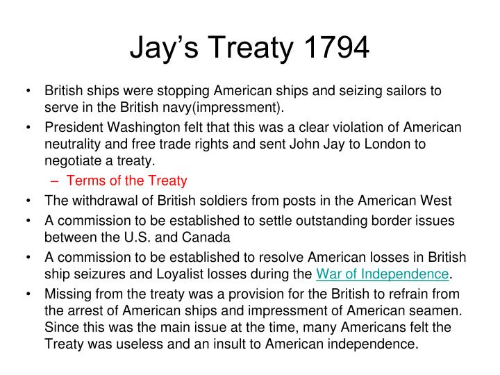 The Jay Treaty 1794