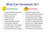 what can homework do