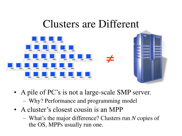 Clusters are Different