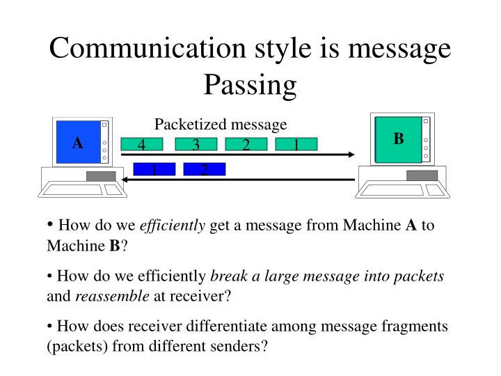 Communication style is message Passing