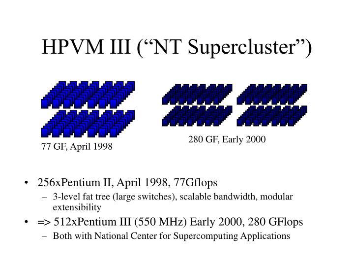 """HPVM III (""""NT Supercluster"""")"""