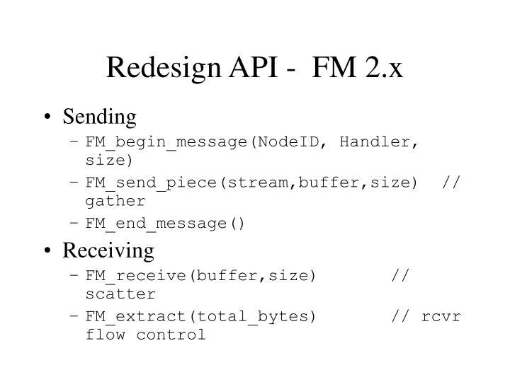 Redesign API -  FM 2.x