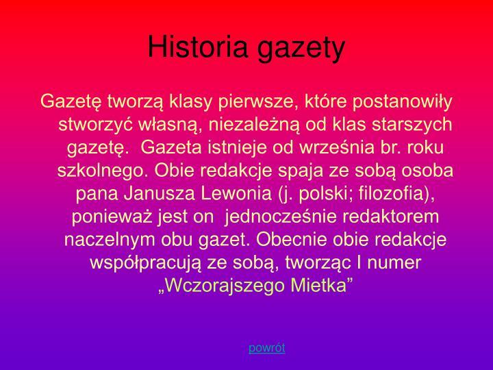 Historia gazety