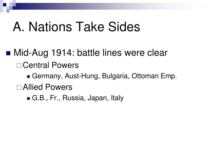 A. Nations Take Sides