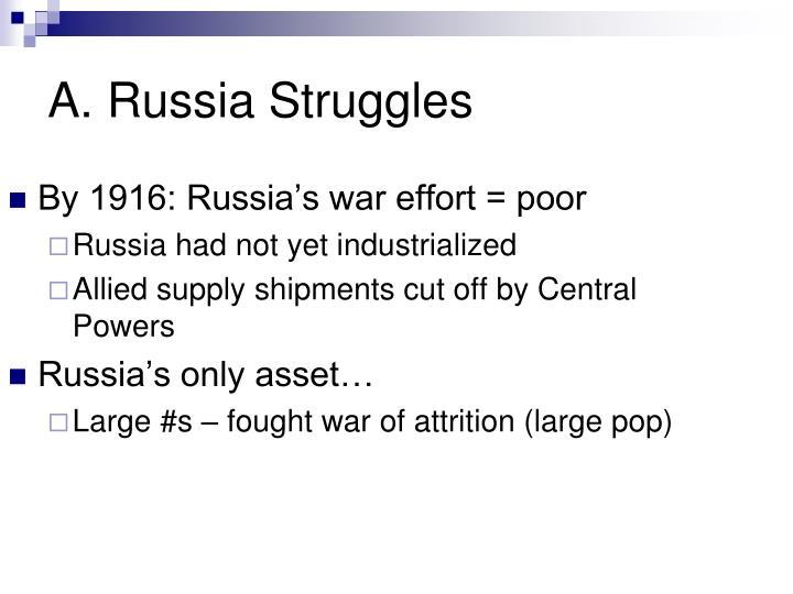 A. Russia Struggles