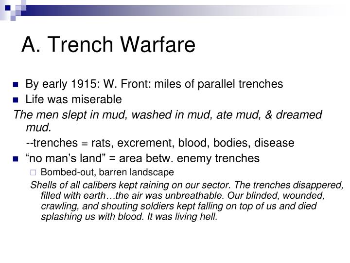 A. Trench Warfare