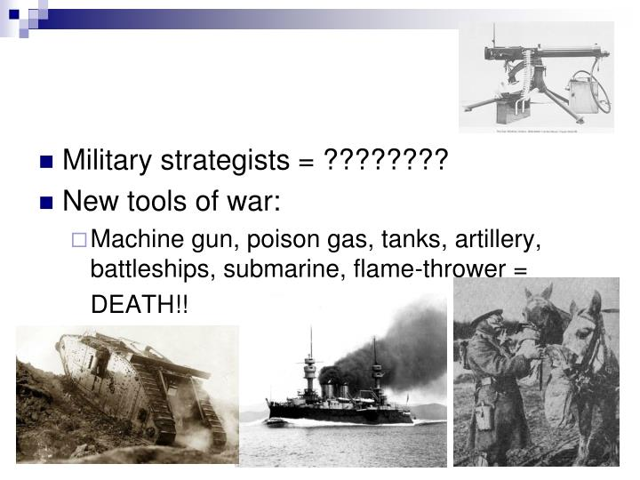 Military strategists = ????????