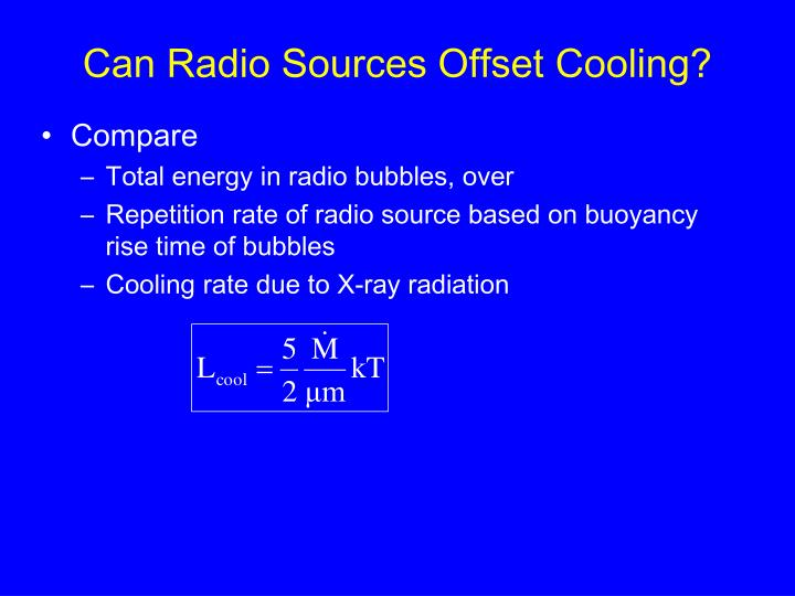 Can Radio Sources Offset Cooling?