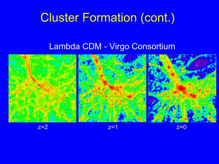 Cluster Formation (cont.)