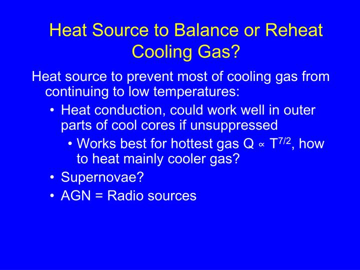 Heat Source to Balance or Reheat Cooling Gas?