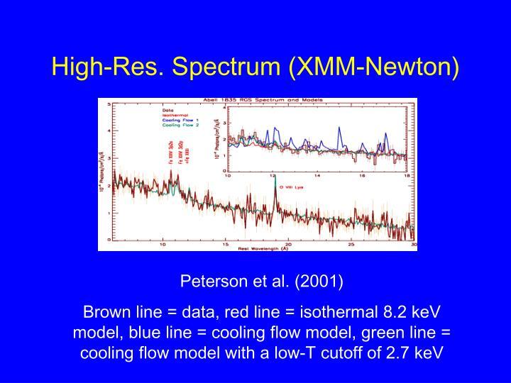 High-Res. Spectrum (XMM-Newton)