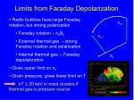 limits from faraday depolarization