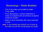 morphology radio bubbles