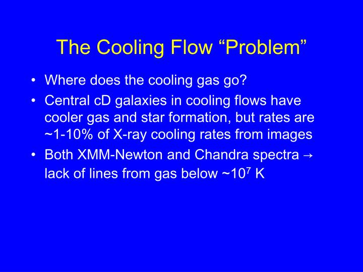 """The Cooling Flow """"Problem"""""""