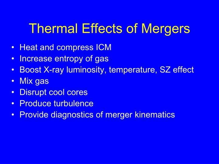 Thermal Effects of Mergers