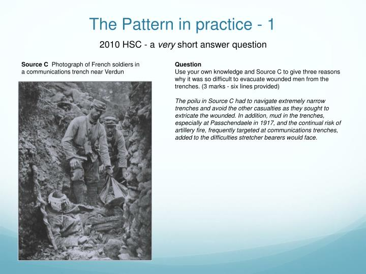 The Pattern in practice - 1