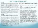 the pattern in practice 3