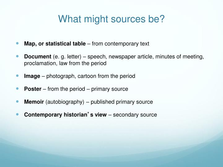 What might sources be?