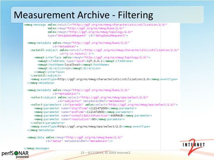 Measurement Archive - Filtering
