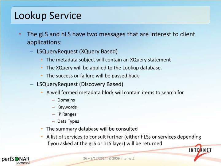 Lookup Service