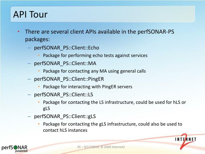 API Tour
