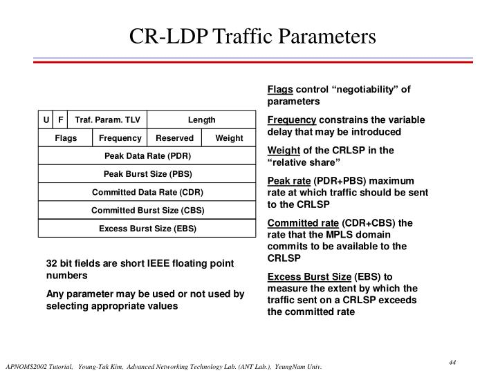 CR-LDP Traffic Parameters