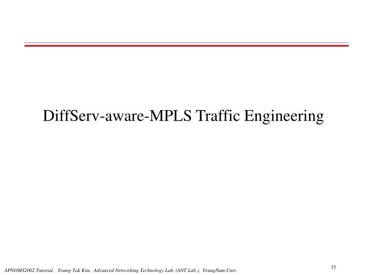 DiffServ-aware-MPLS Traffic Engineering