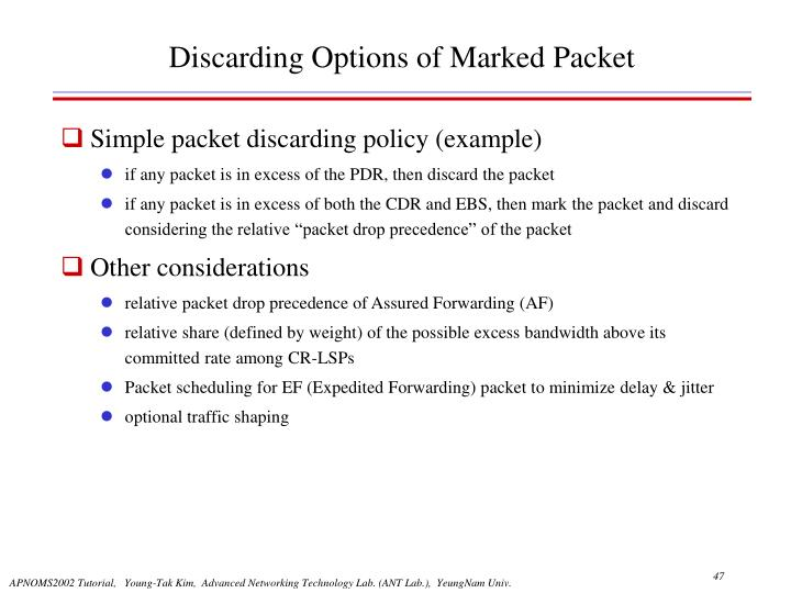 Discarding Options of Marked Packet