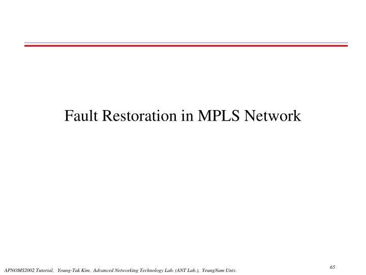 Fault Restoration in MPLS Network