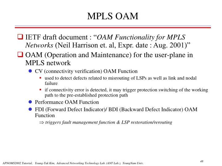 MPLS OAM