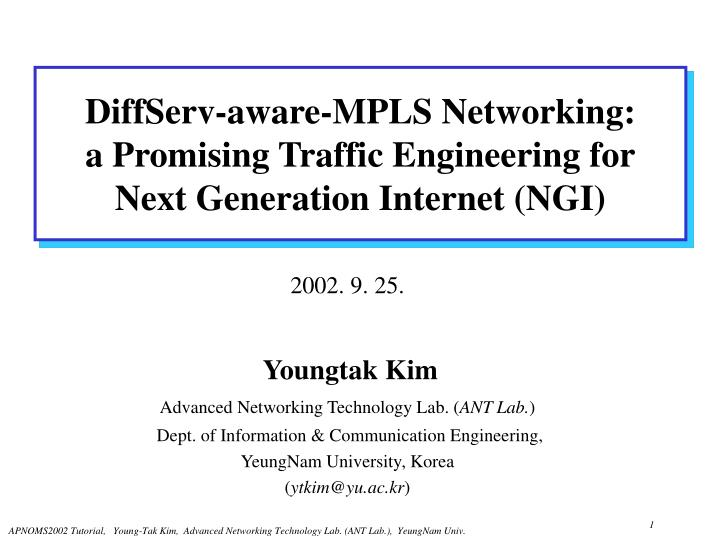 DiffServ-aware-MPLS Networking: