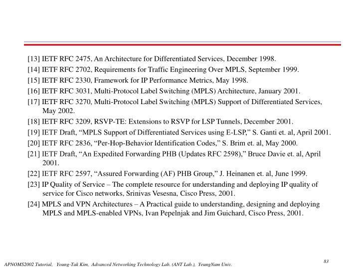 [13] IETF RFC