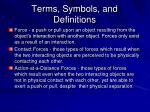 terms symbols and definitions