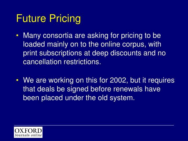Future Pricing