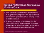 making performance appraisals a positive force