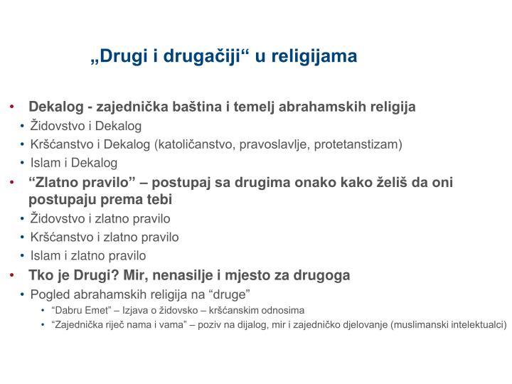 """""""Drugi i drugačiji"""" u religijama"""