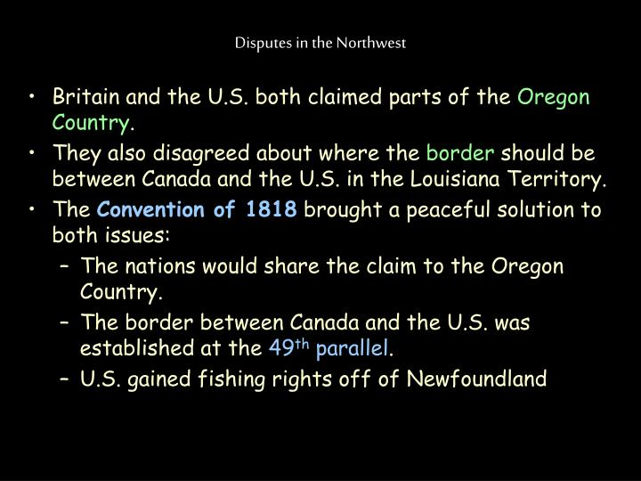 Disputes in the Northwest