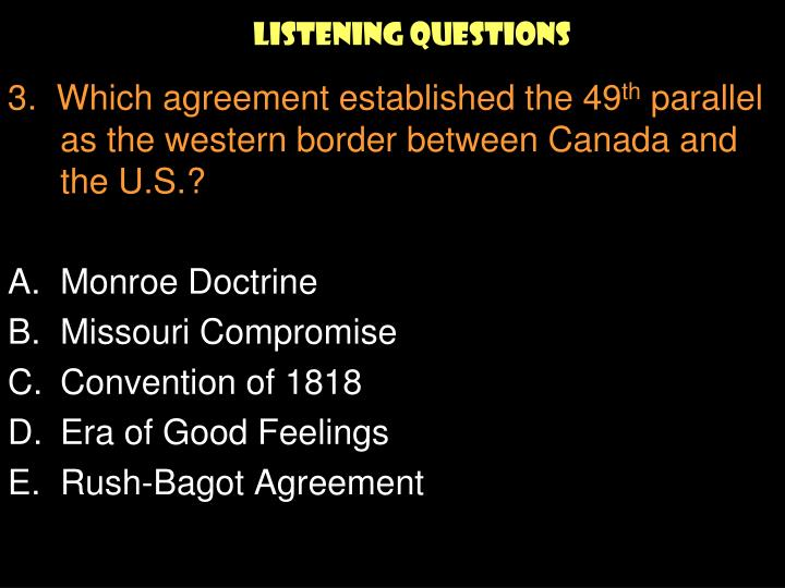 Listening Questions