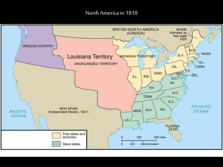 North America in 1818