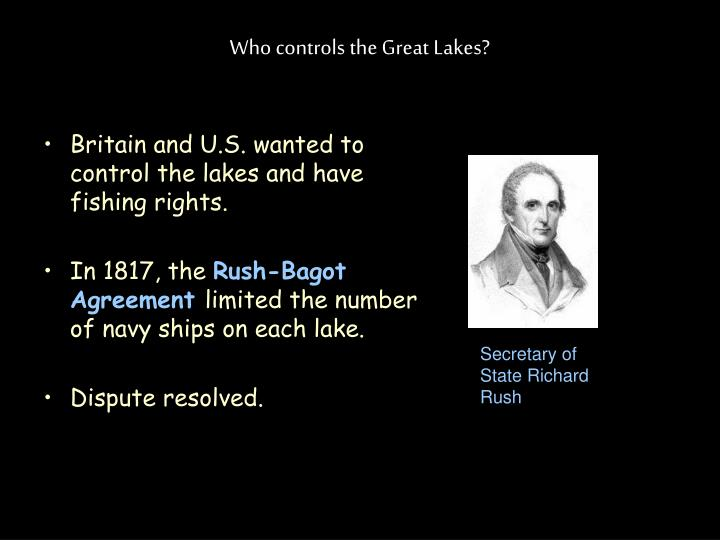 Who controls the Great Lakes?